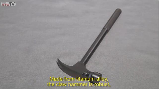Молоток-гвоздодер из титанового сплава